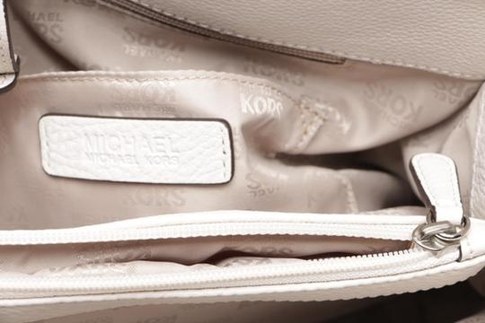Michael Kors Pebbled Leather Tote in vanilla