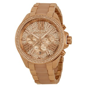Michael Kors Michael Kors Ladies' Wren Pave Acetate & Rose Gold-Tone Designer Watch