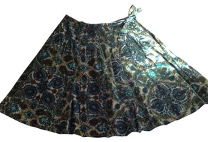 Valerie Stevens Skirt Greens & Blues