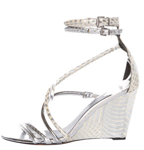 B Brian Atwood Silver Wedges