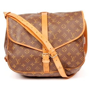 49e6a6087b6 Louis Vuitton Monogram Canvas Saumur 35 Cross Body Bags Brown Messenger Bag