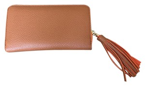 Neiman Marcus Brown Tassel Wallet