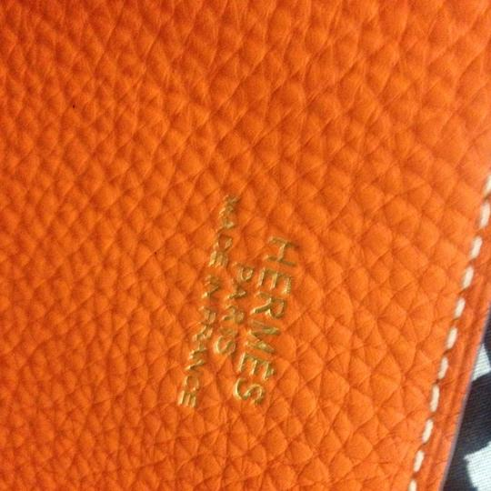 Hermès Double Sens Double Sens Orange Double Sens 45 Double Sen Double Sen 45 Tote in Gold