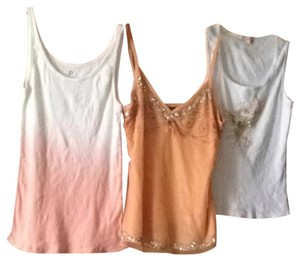 Arden B. Top Coral, Orange, White