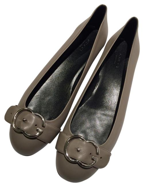 Item - Grey New Buckle Leather Flats Size US 11