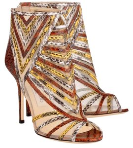 Jimmy Choo being brown yellow Pumps