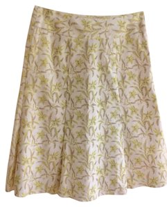 Gap Stretch And Soandex Skirt yellow green