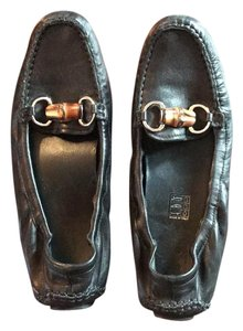 Gucci Loafer Leather Black Flats
