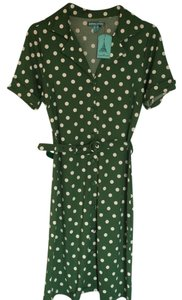 Louis Lucie short dress Green with cream white polka dots on Tradesy