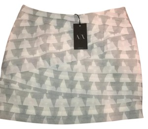 A|X Armani Exchange Mini Skirt gray and white