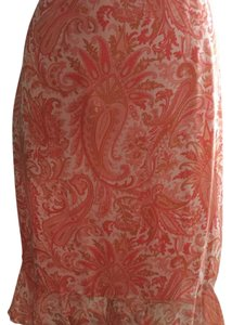 Banana Republic Skirt shades of orange.peach.apricot paisley