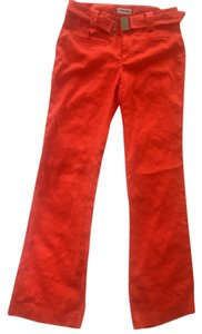 Calvin Klein Linen Relaxed Pants Orange
