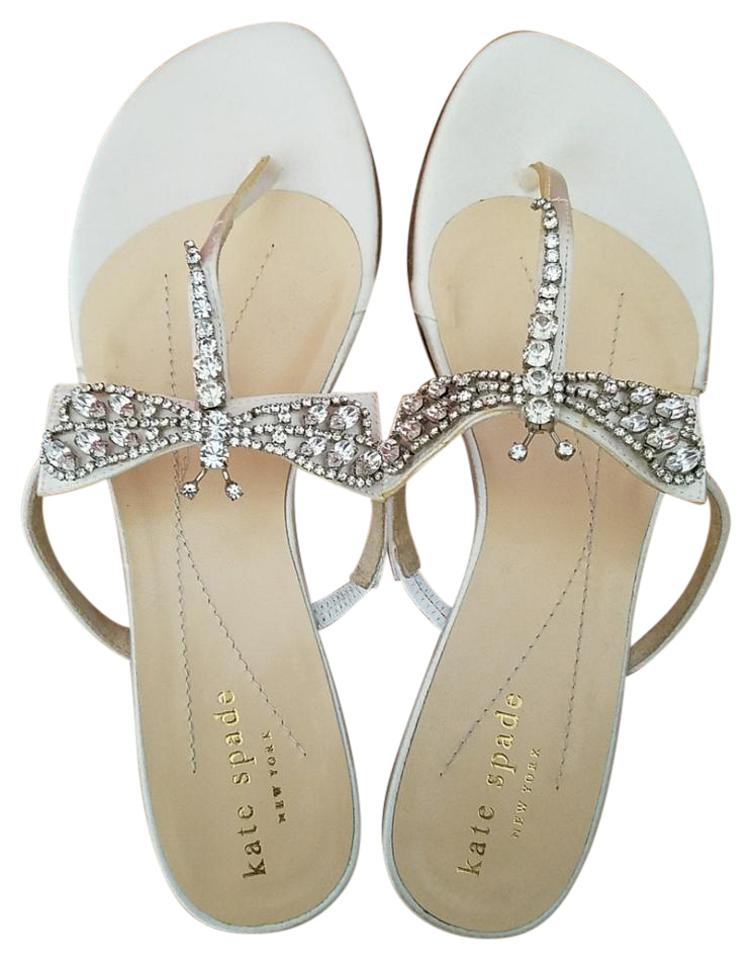 83d9d839289a Kate Spade White Valentin Dragonfly (Nwob) Sandals Size US 5 Regular ...