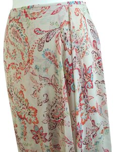 Ann Taylor Skirt multi color on creamy taupe