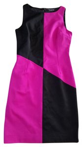 Dolce&Gabbana Color-blocking Pink Black Dolce Dress
