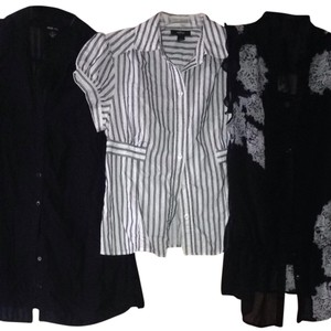 INC International Concepts Top Black, White