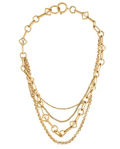 Louis Vuitton Gold-tone Louis Vuitton Collier Chaine Vegas multistrand necklace