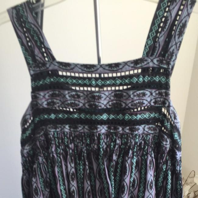 Black Teal Purple Maxi Dress by Plenty by Tracy Reese