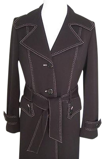 Preload https://item3.tradesy.com/images/nine-west-black-with-pink-trench-coat-size-4-s-2133262-0-0.jpg?width=400&height=650