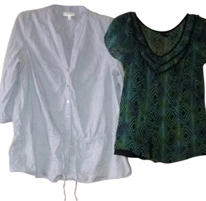 East 5th Essentials Top Light Blue, Green, Black