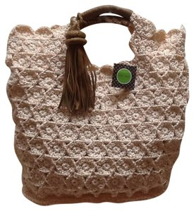Kelly & Katie & Summer Tote Straw Light coral pink Travel Bag