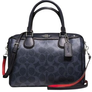 Coach New With Tags Sale Satchel in Midnight / Denim