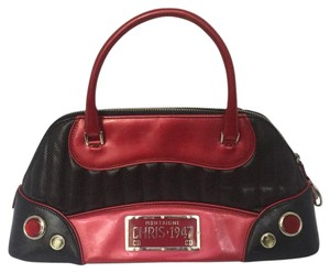 Dior Satchel in Black and Red