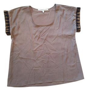 Collective Concepts Beaded Top Brown