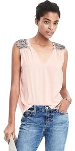 Banana Republic Embellished Soft Must Have Modern Work Top Pink Bliush