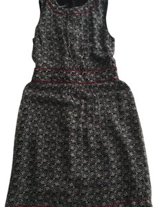 Chanel short dress multi: deep navy, red, tan print - see images. appears black/navy on Tradesy