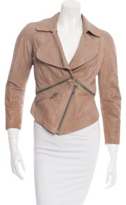 Yigal Azrouël Leather Motorcycle Tan Leather Jacket