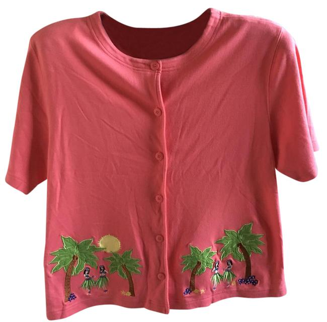 Item - Pink 58909 Button-down Top Size 10 (M)