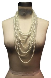Anthropologie Pearl Multi Strand Necklace