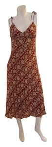 red and Bone Maxi Dress by J.Crew