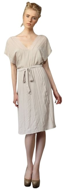 Item - Dusty Nude Malena Pintucked Knee Length Formal Dress Size 4 (S)