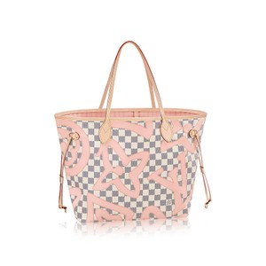 Louis Vuitton Vuitton Neverfull Mm Vuitton Neverfull Pouch Mm Tote in DAMIER AZUR TAHITIENNE