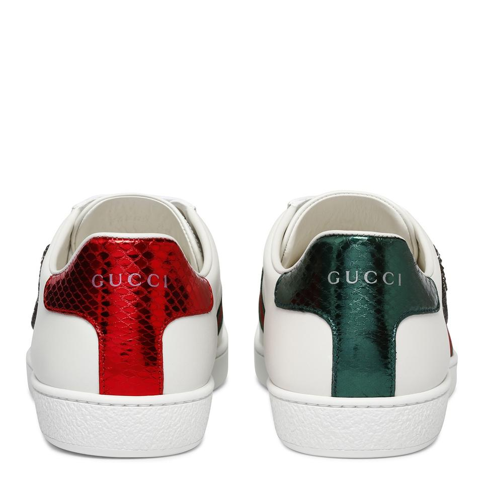 02de38ae0 Gucci Multicolor Multiple Ace Safety Pin Embroidered Low-top ...
