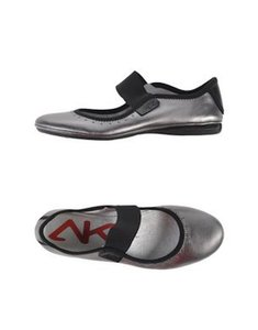 Anne Klein Comfortable Silver Flats