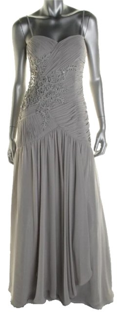 Item - Gray Formal Dress Size 6 (S)