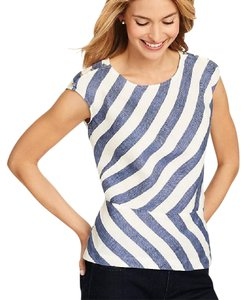 Talbots Top Blue and white