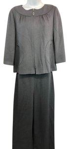 St. John St. John Collection Gray Knit Pant Set 6