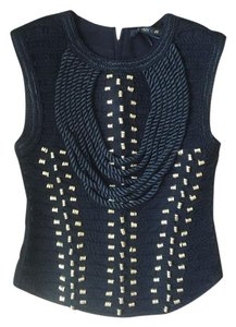 Balmain x H&M Sleeveless Evening Exclusive Sold Out Collection Top Black, gold
