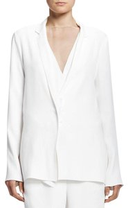 Lanvin Frayed Double Breasted white Blazer