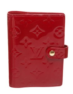 Louis Vuitton Louis Vuitton Red Vernis Monogram Leather Small Agenda Cover