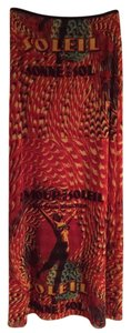 Jean-Paul Gaultier Maxi Skirt Red