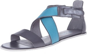 Tsubo Gladiator Mod Futuristic grey blue white Sandals