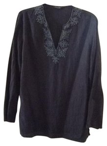 Lands' End Navy Beaded Tunic