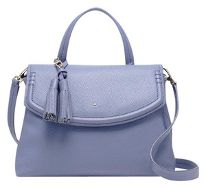 Kate Spade Handle Leather Satchel in Oyster Blue