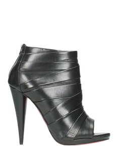 Christian Louboutin Drapicone Redbottoms Ankle Pleated BLACK Boots