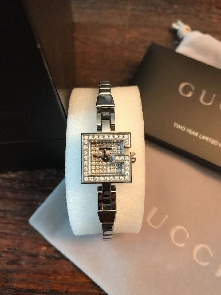 7902ea98c67 Gucci Gucci 102 Series G-Mini Stainless Steel Pave Diamond Women s Watch  Image 0 ...